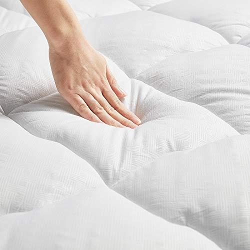 WOOBOBEE Full Mattress Pad Cover,Cooling Mattress Topper,Soft Qulited Fitted Pillowtop Mattress Protector Down Alternative Overfilled with 8-21 Inch Deep Pocket