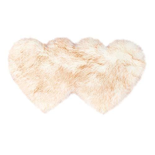 Tapis de pied, tapis imitation laine en peau de mouton Faux antidérapant chambre tapis tapis moelleux décor à la maison