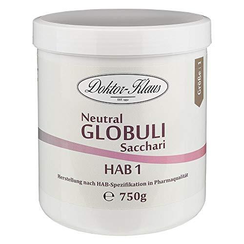 750g Neutral Globuli HAB 1, Doktor-Klaus, reine Saccharose, in weisser Dose