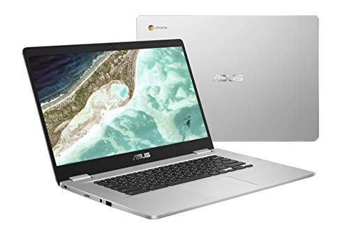 ASUS Chromebook C523NA-DH02 15.6' HD NanoEdge Display, 180 Degree, Intel Dual Core Celeron Processor, 4GB RAM, 32GB eMMC Storage, Silver Color (Renewed)