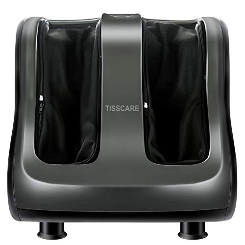 TISSCARE Foot Massager Machine with Heat - Shiatsu Massager for Tired Feet, Leg, Calf, Deep Kneading Therapy, Relaxation Vibration, Rolling, Stimulate Blood Circulation for Plantar Fasciitis