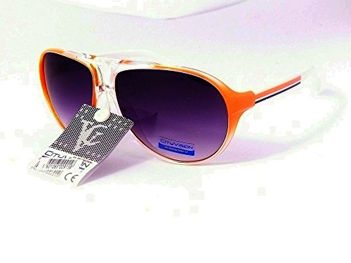 Cityvision Lunettes de Soleil aviateur Mixte Homme Femme Mode Tendance 023577 (Monture Orange, Largeur:135mm Hauteur:50mm)