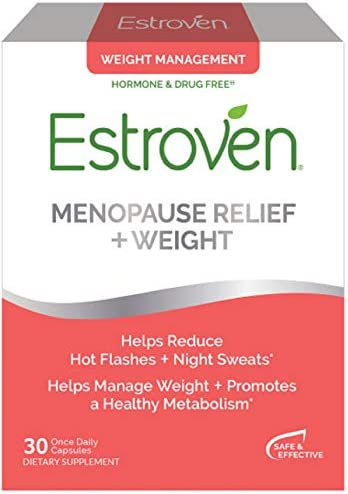 Estroven Menopause Relief + Weight Management | Multi-Symptom Menopause Relief | Helps Reduce Hot Flashes & Night Sweats* | Helps Manage Weight* | 60 Capsules