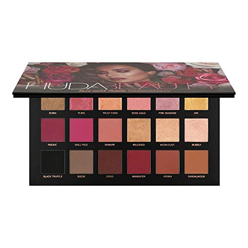 HUDA BEAUTY Rose Gold REMASTERED Eyeshadow Palette with samples 100% Authentic