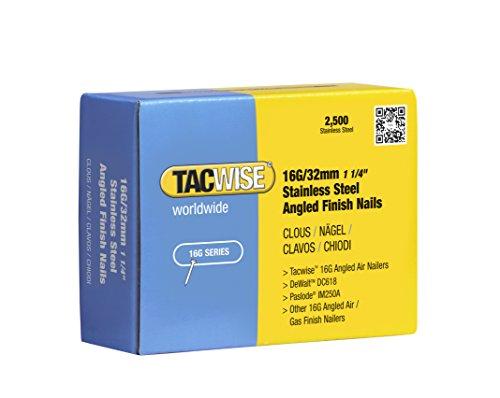 Tacwise 1222 Clavos inclinados de acero inoxidable 16 g/32 mm