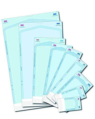 Sacchetti per autoclave per sterilizzazione, autoadesivi, 200 pezzi, 75 x 250mm, 200
