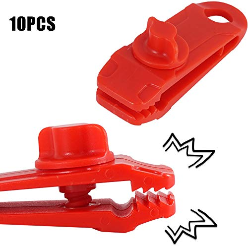 Gebuter 5/10 PCS Camping Tarp Clips Tent Awning Clamps, Tent Tarp Clips, Heavy Duty Lock Grip Clamps Thumb Screw Tent Clip Great for Outdoors Camping Garden Tarps Awning Tent Canopies Portable Tool