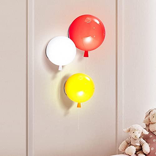 DFLY Lampada da Parete per Bambini, Applique da Parete Creativa a Palloncino Nordico a LED, luci Decorative Rotonde in plexiglass Lampada da Parete Moderna per caffè, 3 Dimensioni,Bianca,35cm