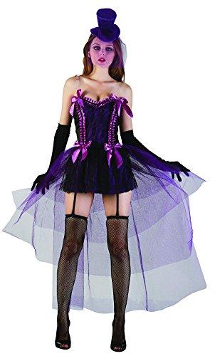 Hi Fashionz Sexy Saloon Girl Kostüm Damen Burlesque Junggesellinnenabschied, Violett Gr. Einheitsgröße, Sexy Saloon Mädchen Kostüm für Erwachsene