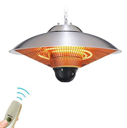 Calefacción por suspensión eléctrica EnerSaving y resistente al agua IP44 Grado 3 Potencia Calefacción rápida Calefacción para terrazas de techo Calefacción halógena infrarroja interior exterior con