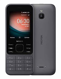 موبايل نوكيا 6300 4G بشريحتين اتصال، شاشة 2.4 بوصة، 4 جيجابايت، 512 ميجابايت رام، شبكة الجيل الرابع - رصاصي فاتح