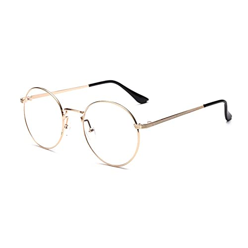 f54b50f6d3 Outray Retro B136 Round Metal Clear Lens Glasses