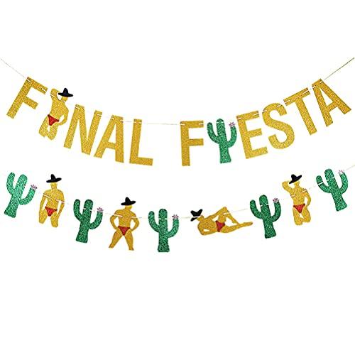 TOYANDONA 2 unids Fiesta Mexicana Fiesta Ejecución Ornamento Decorativo Banner Decoración