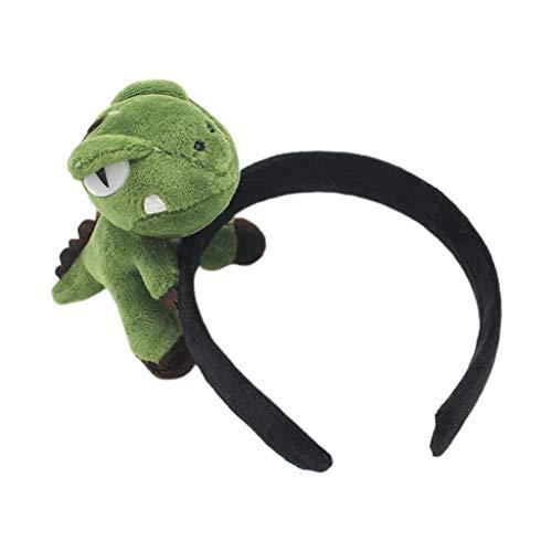 S-Problem Erwachsene Kinder Nette Große 3D Cartoon Dinosaurier Stirnband Plüschtier Samt Tuch Eingewickelt Haarband Cosplay Party Kostüm Foto Requisiten