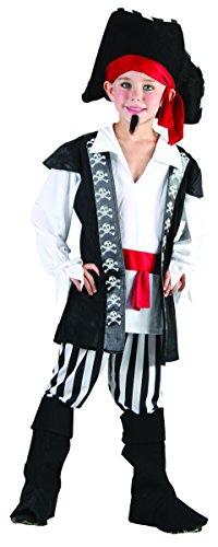 Rire Et Confetti - Fibpir004 - Déguisement pour Enfant - Costume Pirate De Haute Mer - Garçon - Taille M