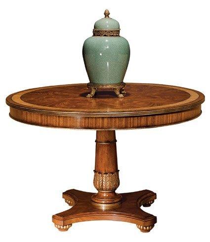 HENKEL Harris Round Pedestal Mahogany Center or Dining Table #2200 ~ New