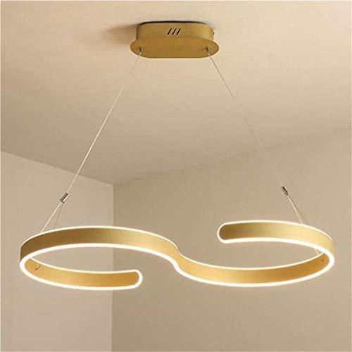 Hogreat Smart led Candelabro Moderno, Brillante Lamparas adopta una lámpara de Techo con luz de salón de los dormitorios Lobo Luminaria Lobo (Color: Verde cálido-B) (Color: Luz Neutra-a)