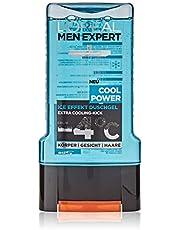 L'Oréal Men Expert, Cool Power Douchegel, Verkoelend Menthol-Effect Regenereert De Huid (Gezicht, Lichaam En Haar) Zacht Zonder Uit Te Drogen (1 x 300 ml)