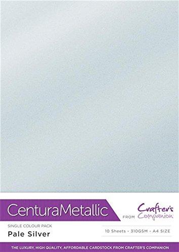 Centura Metallic Solo Color Pálida Plata Paquete de 10 Hoja-Pale Silver, Cardstock, 34.4 x 22.5 x 0.5 cm
