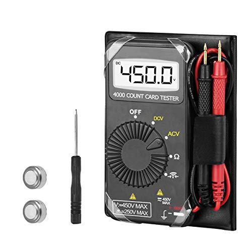 AOPUTTRIVER AP-4201 超小型デジタルマルチメータ 4000カウント のオートレンジング AC DC 電圧、抵抗、連続性測定[日本語取扱説明書付き]