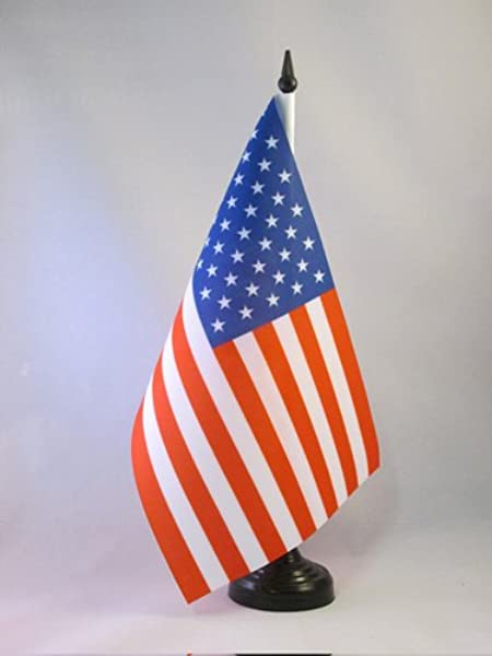 AZ FLAG United States Table Flag 5 X 8 USA US American Desk Flag 21 X 14 Cm Black Plastic Stick And Base