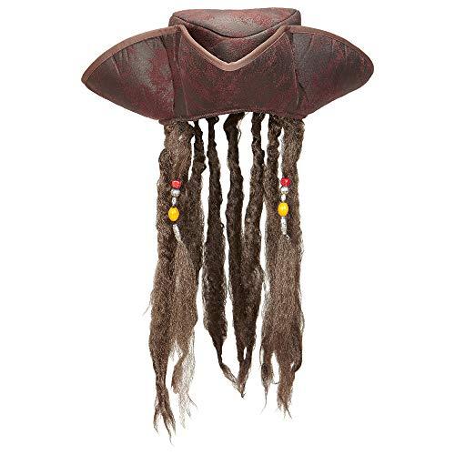 Widmann - Piratenhut mit Haaren
