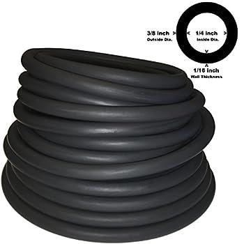 Spearit 3/8  OD 1/4  ID Latex TUBING 804 Black  10FT