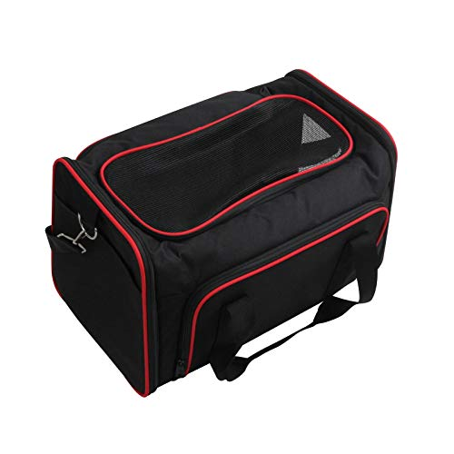 ZHUXIN Pet Carriers, Portable Breathable Pet Travel Bag All-round Ventilation, Can Be Carried By Hand Or Carried Over The Shoulder, Cat Carrier For Airplane, Car and Train Travel Car