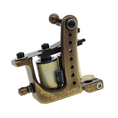 Coil Tattoo Machine Brass Frame 10 Wrap Coils From Thomas(Shader)