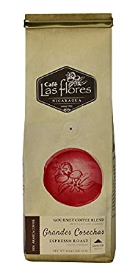 Café Las Flores Grandes Cosechas Ground Coffee Beans 100% Arabica Gourmet Coffee Blend - Nicaragua's Finest Coffee