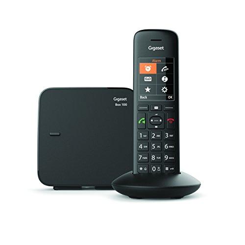 Gigaset C570 Telefono Cordless, Identificatore di Chiamata, Ampia Rubrica, Ideale anche per la fibra, Nero [Versione Italiana]