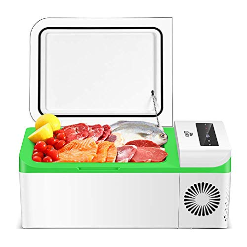 MQJ Compressor Portable Small Refrigerator Car Refrigerator Freezer Vehicle Car Truck Rv Boat Mini Electric Cooler for Driving Travel Fishing Outdoor and Home Use