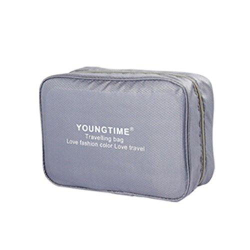 Unisexe maquillage cosmétique sac étanche Voyage Organisateur bagages,gris C