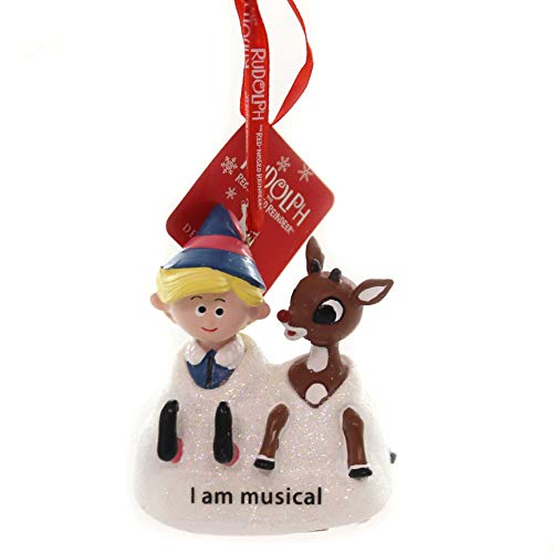 Department 56 Rudolph and Hermey Musical, 3' Hanging Ornament Multicolor
