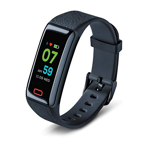 Beurer AS 98 Pulse Capteur d'activité, bracelet de fitness avec mesure du pouls et surveillance du sommeil, contrôle optimal des mouvements, écran tactile couleur et application