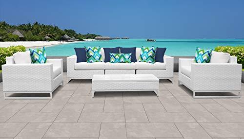 TK Classics MIAMI-06e Miami Seating Outdoor Furniture, Sail White