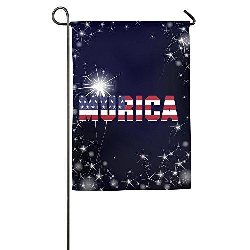 Murica cuarto de julio de EE. UU. Bandera de Jardín 12x 45,7cm/18x 27pulgadas