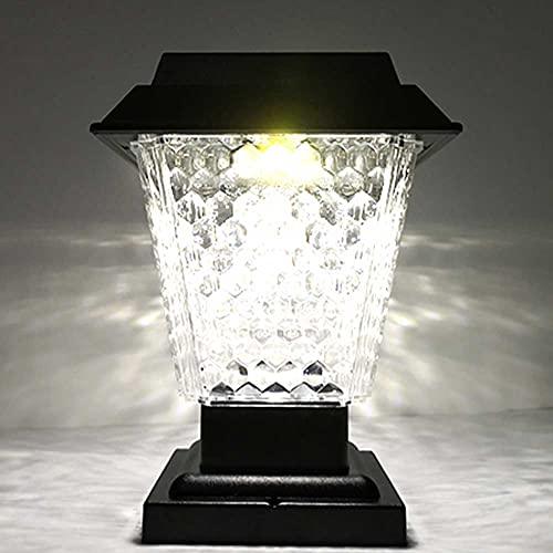Luces de Seguridad Solar, Lámpara de jardín al Aire Libre de la lámpara del jardín al Aire Libre de 3W LED LED IP54 Impermeable Moderno Post Lantern, 2200mAh, para Patio Fence Villa Port Pilar