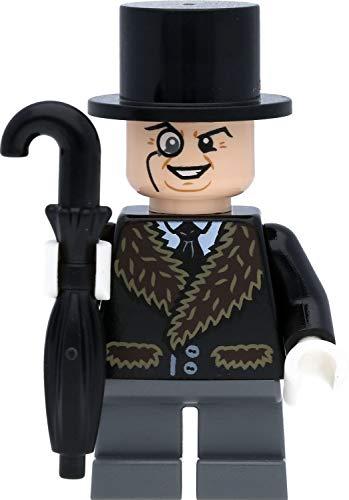 LEGO Super Heroes / Batman Minifigur Pinguin mit braunem Pelzkragen und Regenschirm