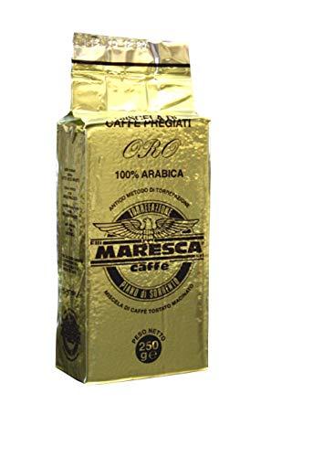 Caffè Maresca: de smaak van het verschil. 100% Arabica goudpleister. 4 pakjes van 250 gr.…