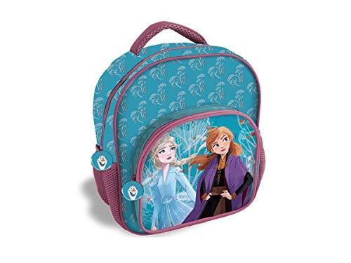 Disney Frozen 2 Zaino Asilo/Tempo Libero 2 Cerniere Dimensioni 30x25 cm circa