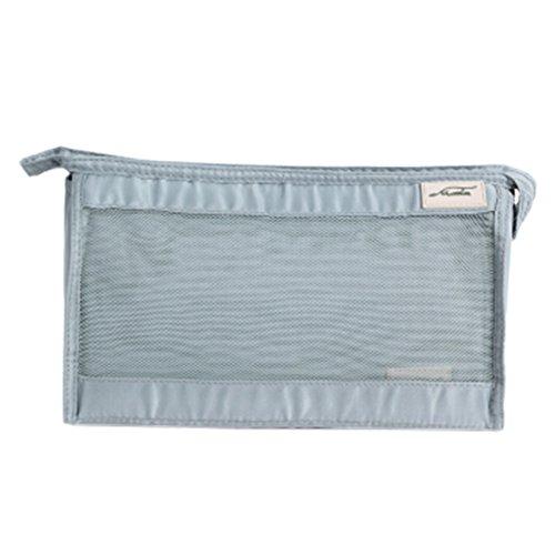 Grande Capacité Voyage Cosmetic Bag Set Waterproof Organizer Make-up Gris