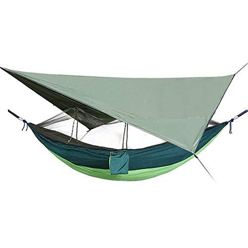 Yamyannie Tienda Impermeable y a Prueba de Viento Camping Parasol Toldo Grueso Resistente a la Rotura de Tela Oxford Recubierto de Plata Carpa de protección Solar del pabellón para Acampar