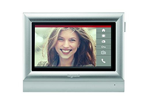 """Bticino - Monitor de pantalla táctil en color de 7 332 453""""teléfono de interior para el kit de video, 2 hilos"""