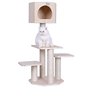 Armarkat Premium Pinus SYLVESTRIS Wood CAT Tree S4203, Tan