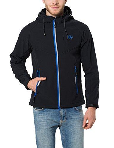 Ultrasport Herren Softshelljacke Miro, Schwarz/Blau, XL