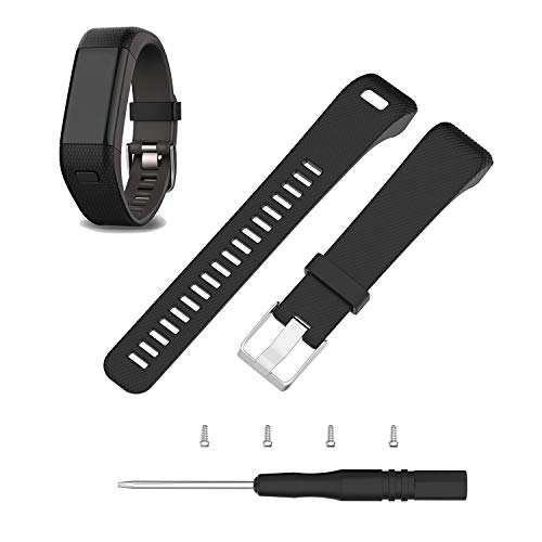 ECSEM Replacement Soft Silicone Bands and Straps Compatible with Garmin...