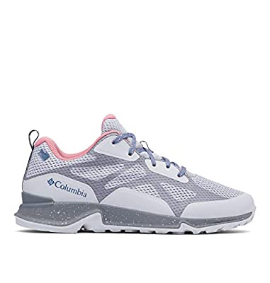 Columbia Women's Vitesse Outdry Performance Shoes, Waterproof & Breathable Hiking, Grey Ice/Canyon Rose, 7 Regular US
