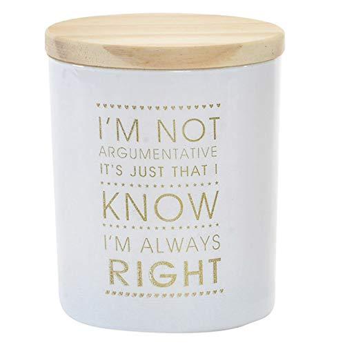 Vela Perfumada Pequeña, en Vaso de Cristal Blanco, con Frase Motivadora en Dorado y Tapa de Madera. Diseño Moderno - Hogar y Más - A