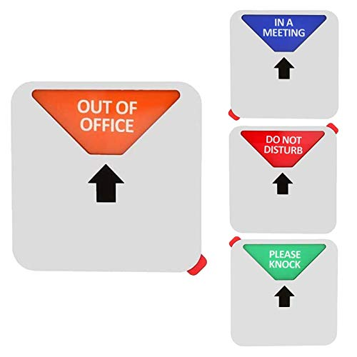 Privacy Sign,Do Not Disturb/Please Knock/Out of Office/in a Meeting Sign, Privacy Door Sign That Lets Others Know Whether You're Available Or Not(5 inch,Silver)